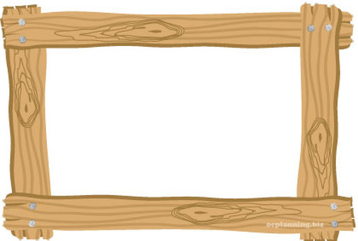 Picture frame with wood grain