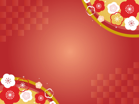Plum flower decorative frame 9