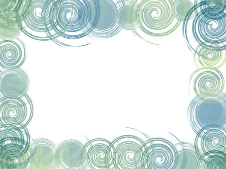 Swirling frame (green)