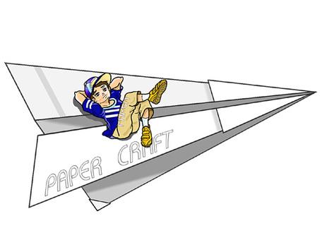 Flying teenager