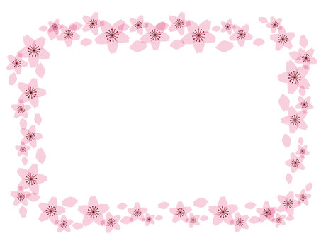 Sakura frame rectangle