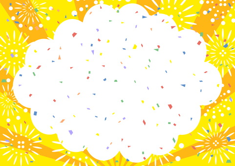 Fireworks Speech Bubble Confetti Concentrated Line Background