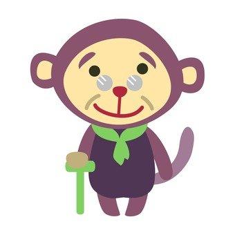 Grandpa monkey