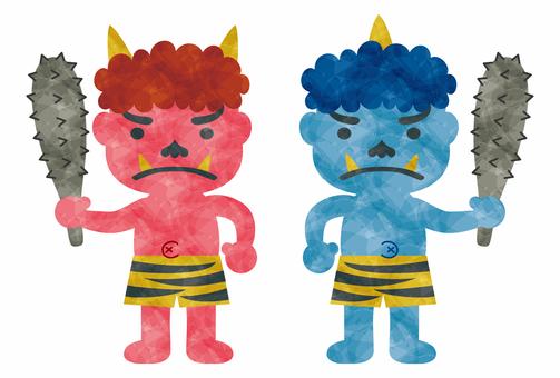 Setsubun / Akemi Blue Ogre