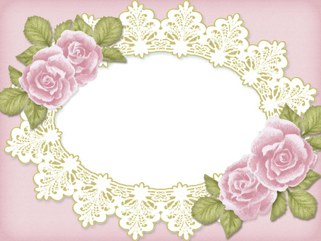 Antique style rose and lace frame 2