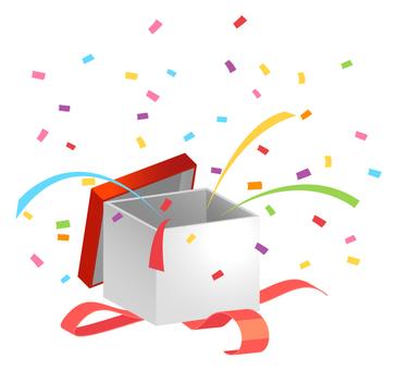Present box · confetti