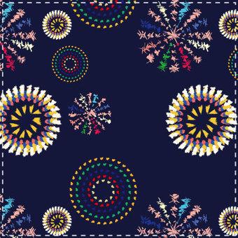 불꽃 패턴 블루