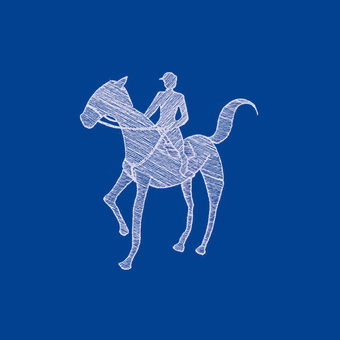 Horse riding illustration (Navy)
