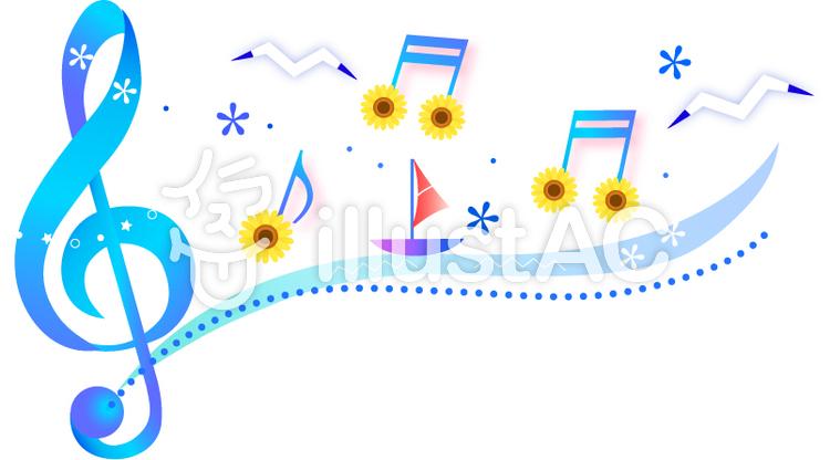 夏の音符のイラスト