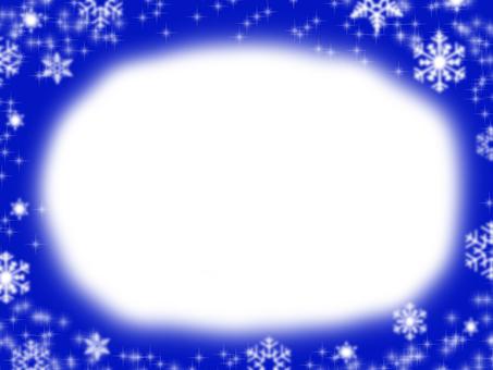 Frame snow stars