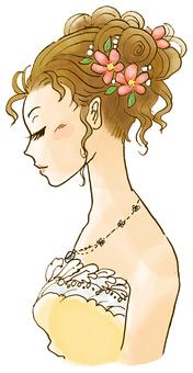 Gorgeous women's profile