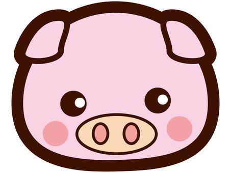 Cute pig's face