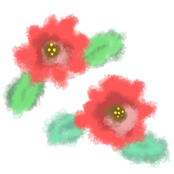 Watercolor-style flowers