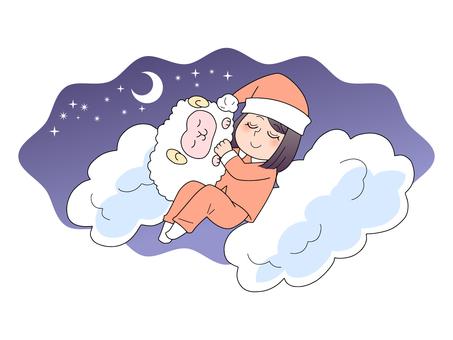 Good sleep image illustration (woman)