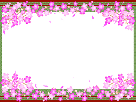 Simple 6 lines Cherry Blossoms Frame 07