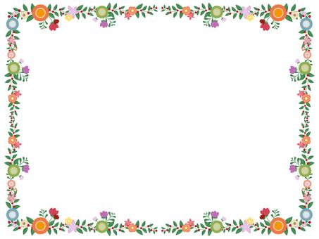Flower decoration frame 2