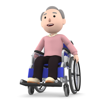 Wheelchair old man 03