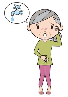 Senior urinary leak