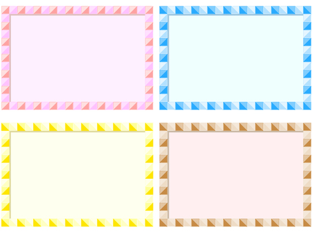 Colorful tile frame 4 pattern