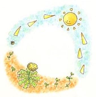 card: Dandelion and sky