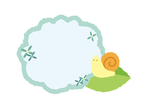 Hydrangea and snail frame