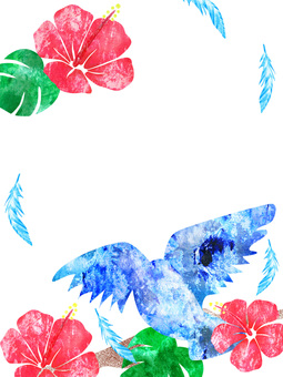 Blue Bird _ Hibiscus _ Rough 02