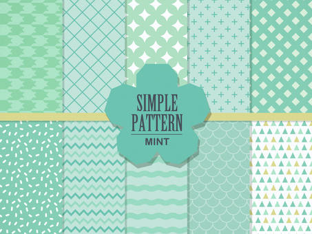 Simple pattern 【mint green】