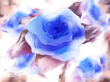 青薔薇(ドット)