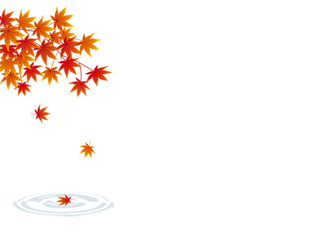 Autumn leaves and ripples