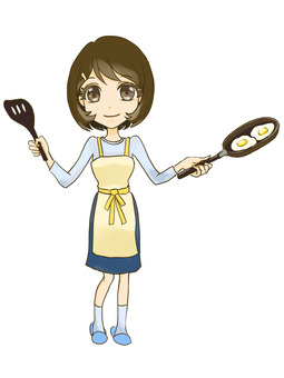 Female cooking 0001