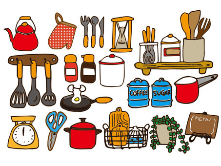 Kitchen accessories (color)