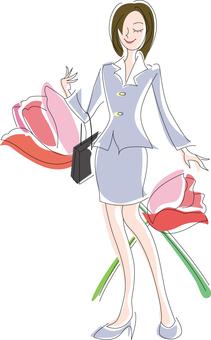 꽃과 여성
