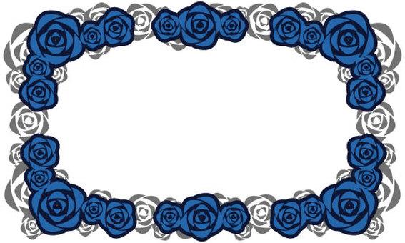 [Background transparent] Rose frame [Blue]