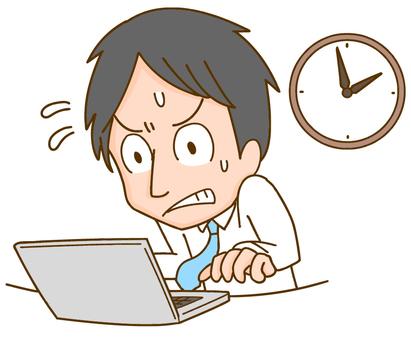 Men who work overtime