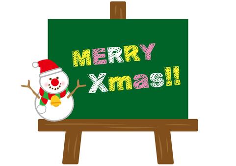 Merry Christmas Blackboard Snow Dharma