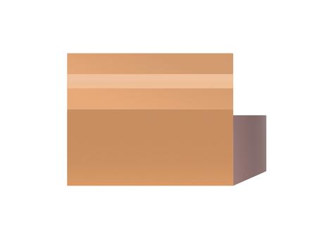 Cardboard closed simple material illustration