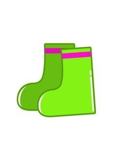 Green children's boots