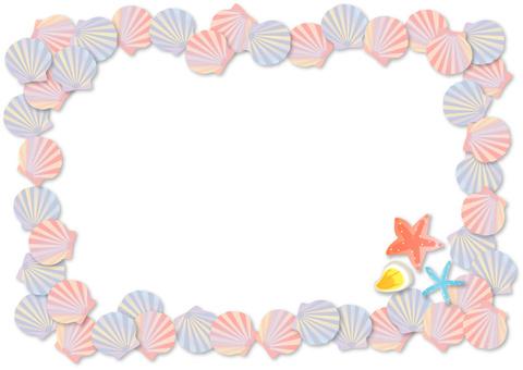 Shell decorative frame