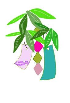 Tanabata ornament strip