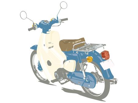 오토바이 자전거 파랑