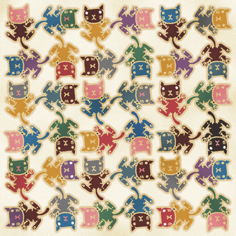 Tatami pattern of cat 035