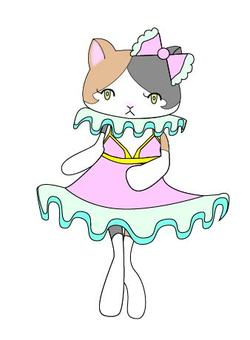 Fashionable tortoiseshell cat 1