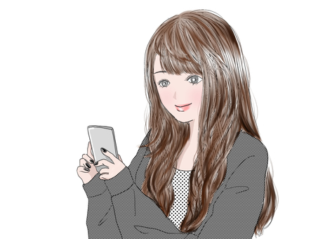 Woman playing with smartphone