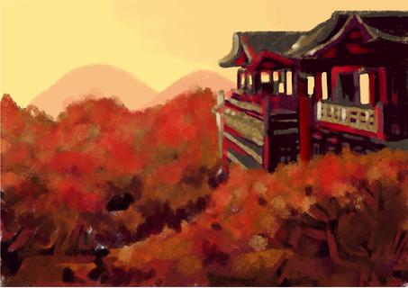 Autumn leaves of Kiyomizudera