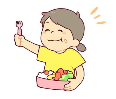 女孩吃午餐2