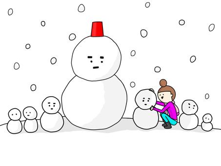 Snowman mass