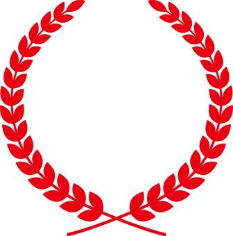 Laurel season frame _ Red