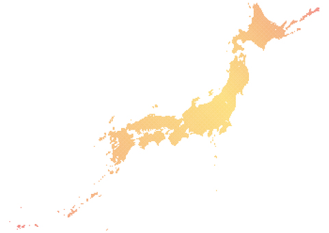 Dot Japan Map e