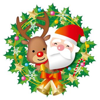 산타와 순록의 크리스마스리스