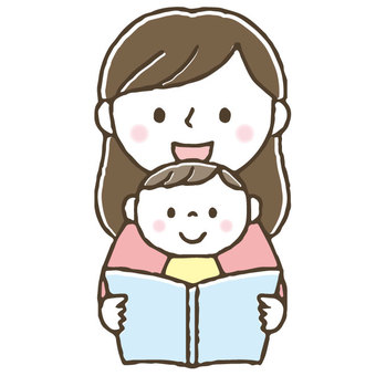 Storytelling of picture books / cute / parents / children